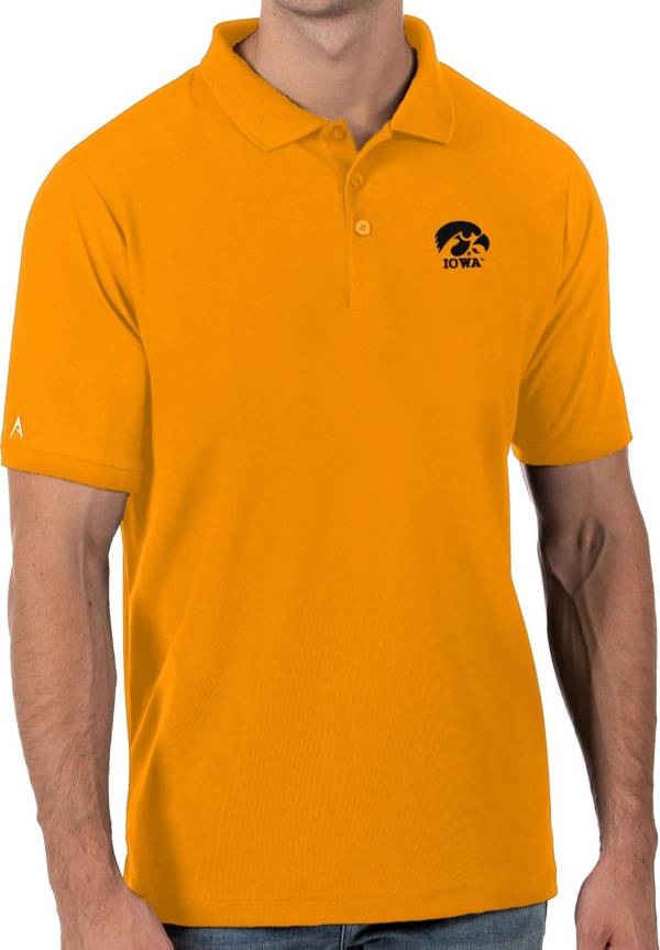 Antigua Men's Iowa Hawkeyes Gold Legacy Pique Polo product image