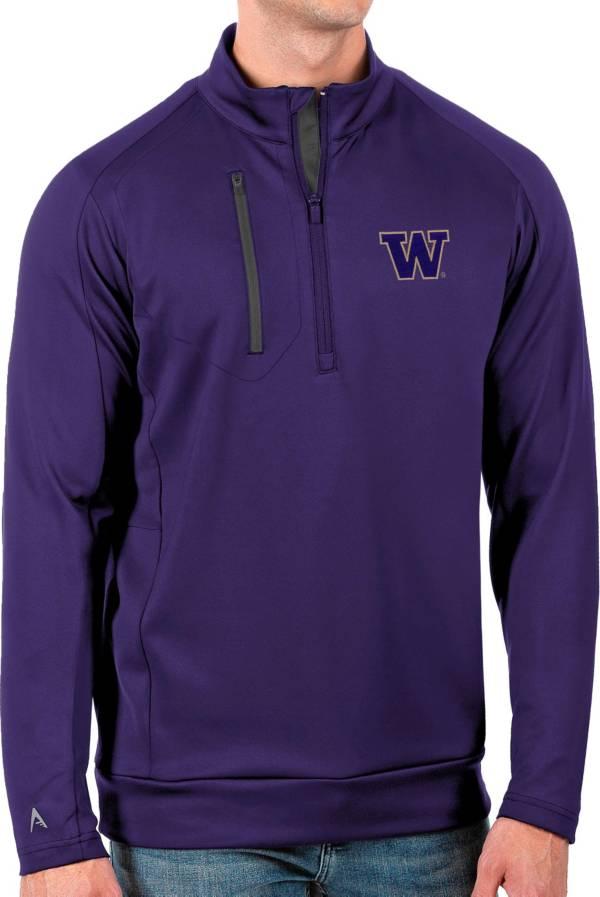 Antigua Men's Washington Huskies Purple Generation Half-Zip Pullover Shirt product image