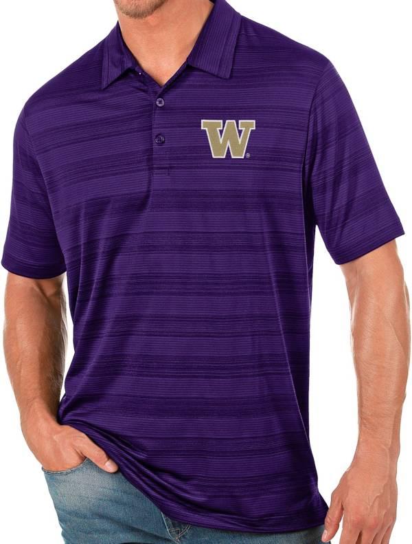 Antigua Men's Washington Huskies Purple Compass Polo product image