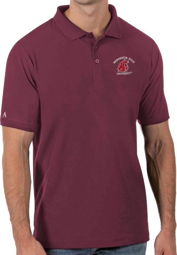 Antigua Men's Washington State Cougars Crimson Legacy Pique Polo product image