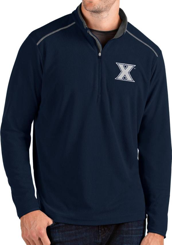 Antigua Men's Xavier Musketeers Blue Glacier Quarter-Zip Shirt product image