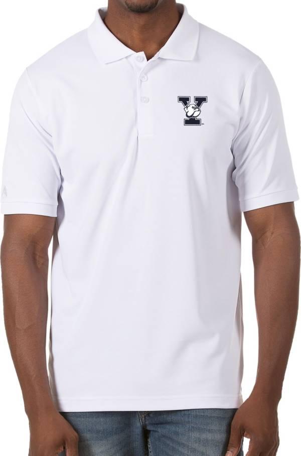 Antigua Men's Yale Bulldogs Legacy Pique White Polo product image