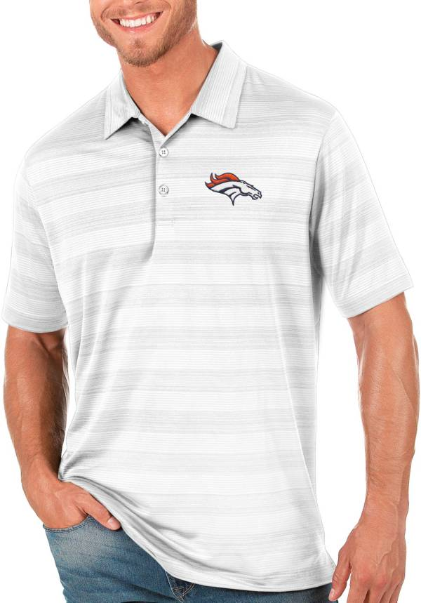 Antigua Men's Denver Broncos Compass White Polo product image