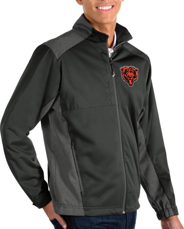 Antigua Men's Chicago Bears Grey Revolve Full-Zip Jacket product image