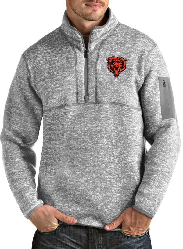 Antigua Men's Chicago Bears Grey Fortune Pullover Jacket product image