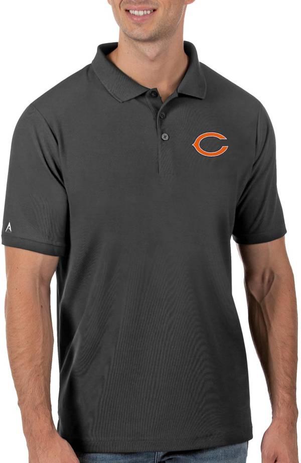 Antigua Men's Chicago Bears Grey Legacy Pique Polo product image