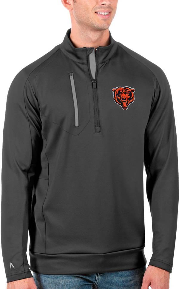 Antigua Men's Chicago Bears Grey Generation Half-Zip Pullover product image