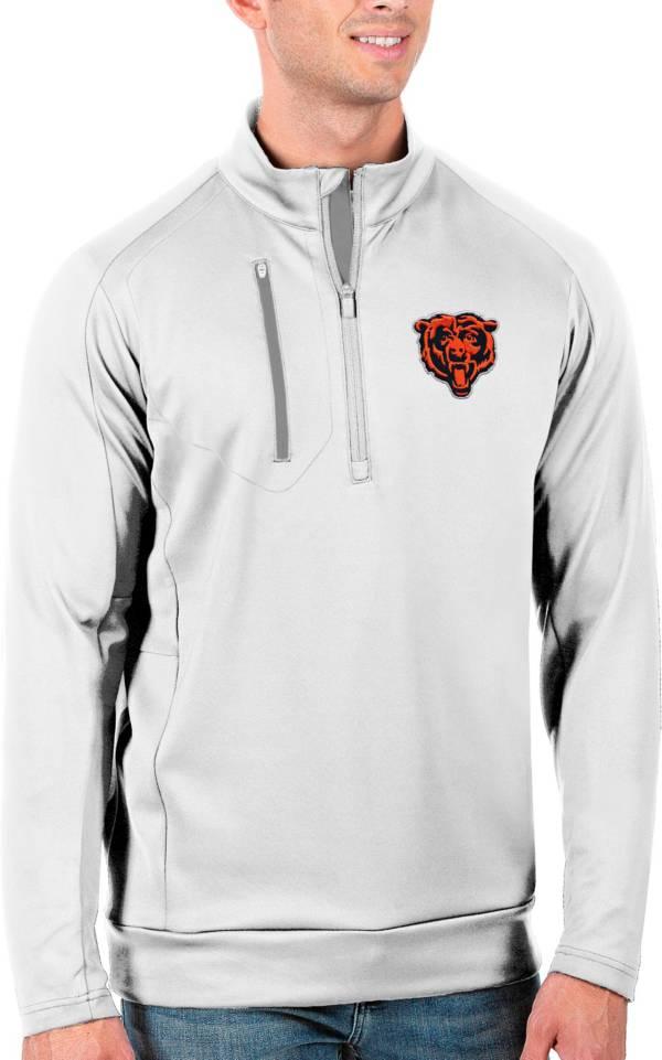 Antigua Men's Chicago Bears White Generation Half-Zip Pullover product image