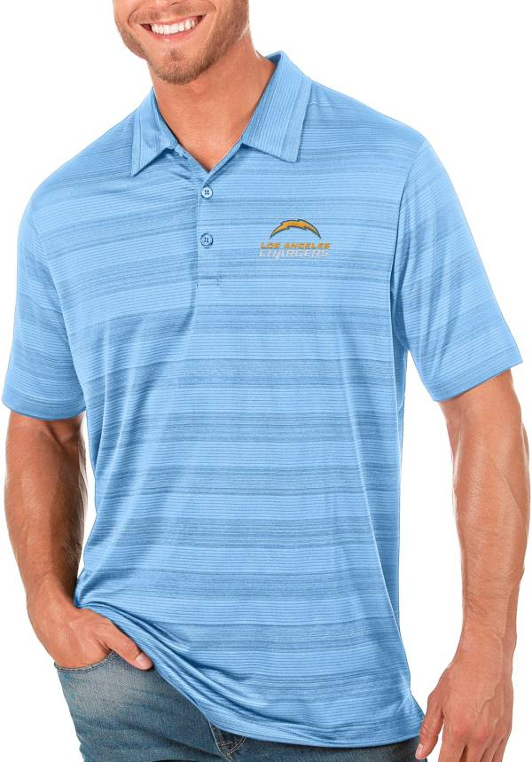 Antigua Men's Los Angeles Chargers Blue Compass Polo product image
