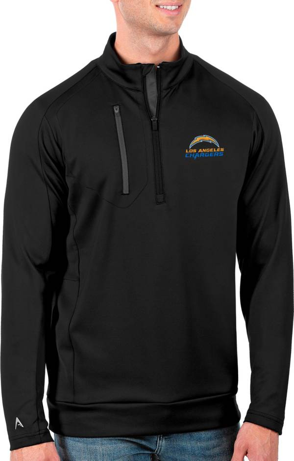Antigua Men's Los Angeles Chargers Black Generation Half-Zip Pullover product image