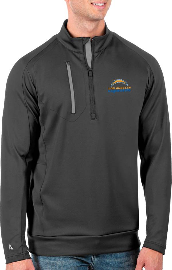 Antigua Men's Tall Los Angeles Chargers Carbon Generation Half-Zip Pullover product image