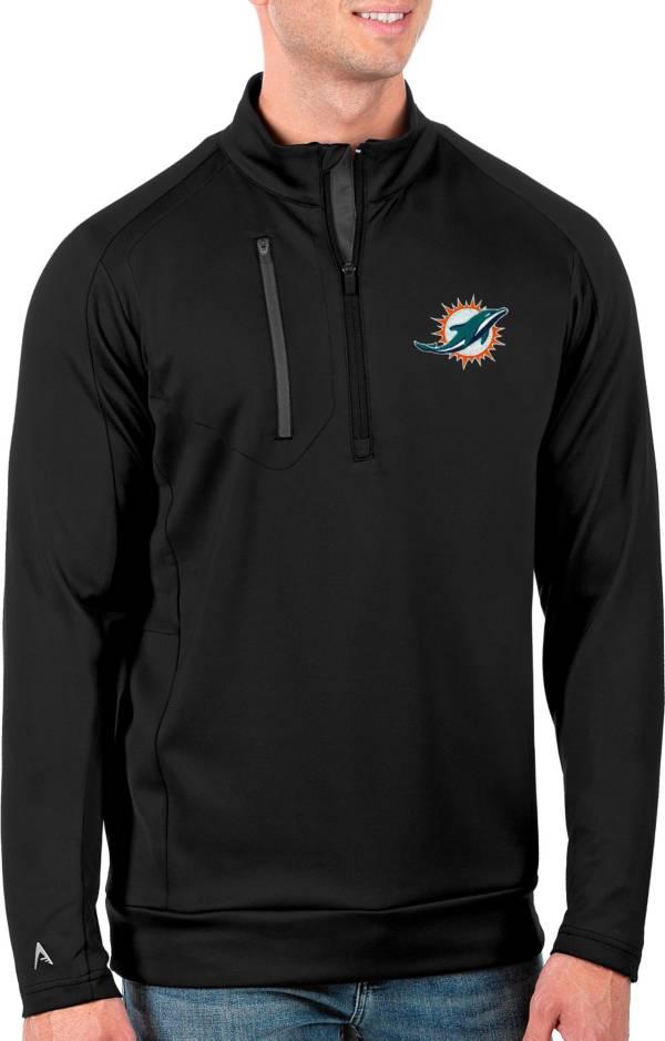 Antigua Men's Miami Dolphins Black Generation Half-Zip Pullover product image