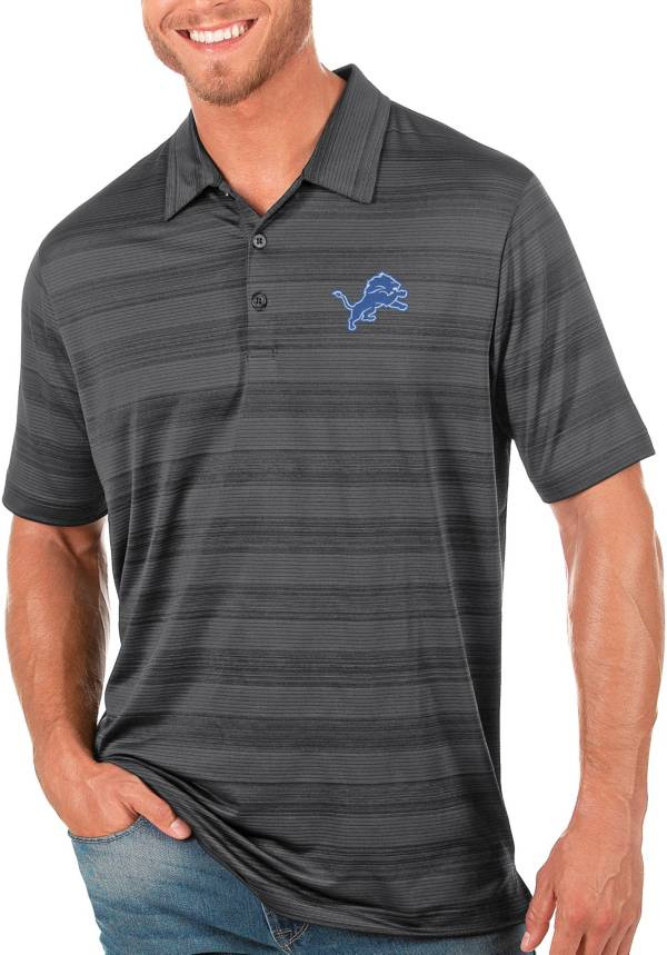 Antigua Men's Detroit Lions Grey Compass Polo product image