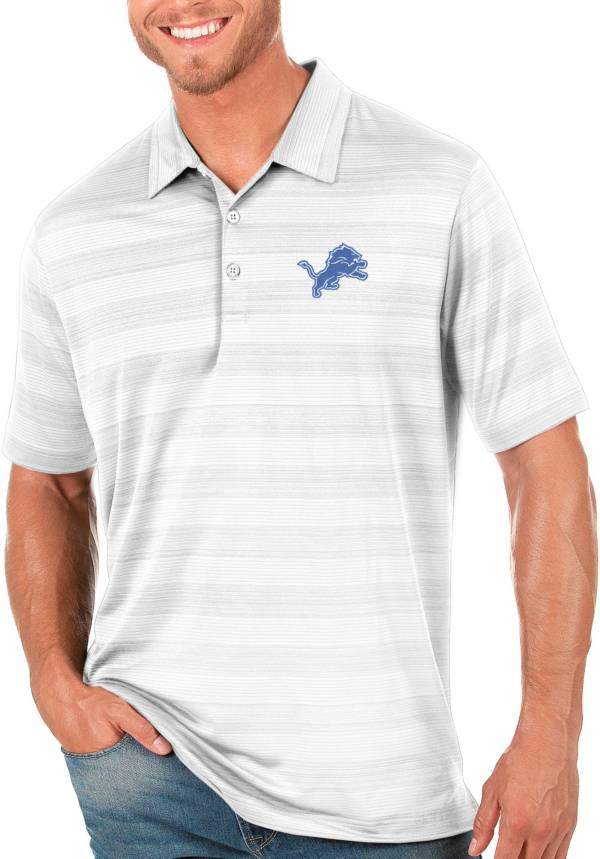 Antigua Men's Detroit Lions Compass White Polo product image