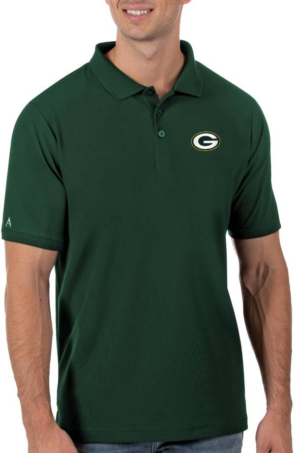 Antigua Men's Green Bay Packers Green Legacy Pique Polo product image