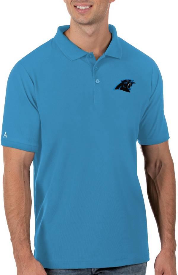 Antigua Men's Carolina Panthers Blue Legacy Pique Polo product image