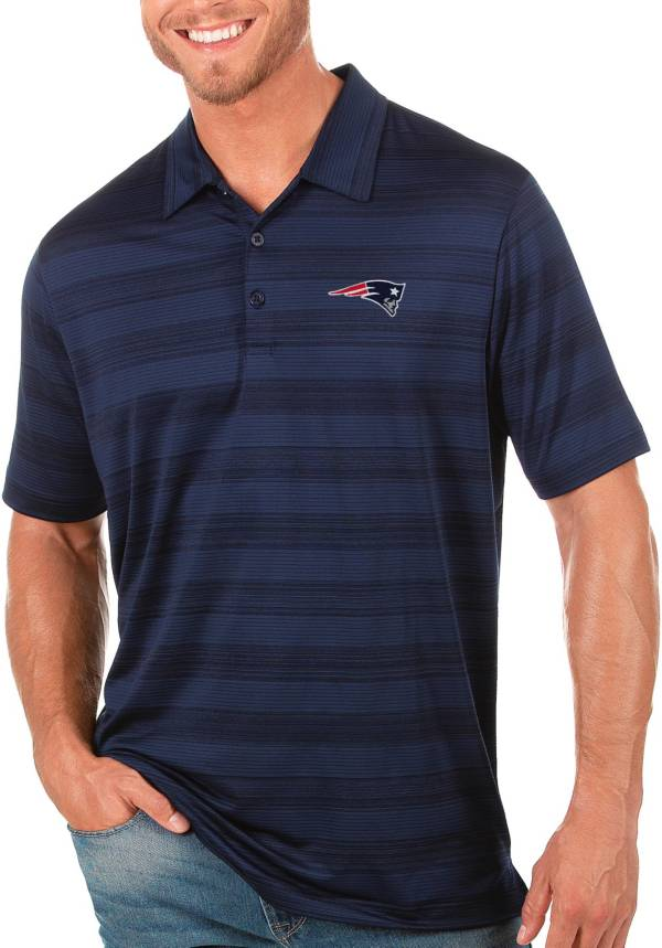 Antigua Men's New England Patriots Navy Compass Polo product image