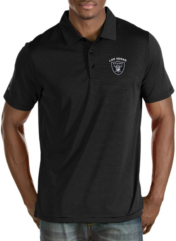 Antigua Men's Las Vegas Raiders Quest Black Polo product image