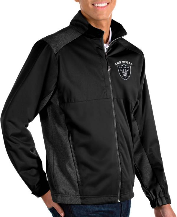 Antigua Men's Las Vegas Raiders Revolve Black Full-Zip Jacket product image