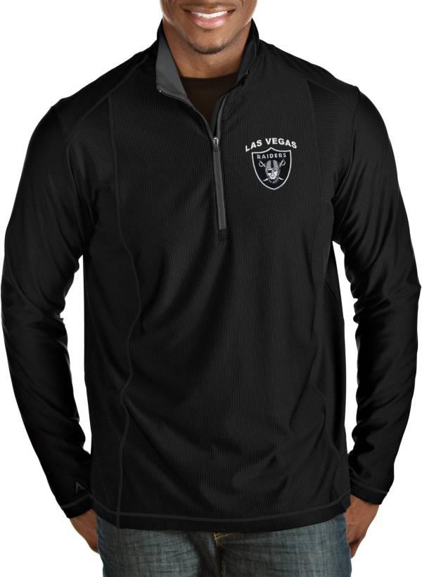 Antigua Men's Las Vegas Raiders Tempo Black Quarter-Zip Pullover product image