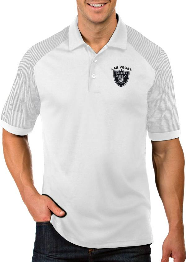 Antigua Men's Las Vegas Raiders Engage Performance White Polo product image