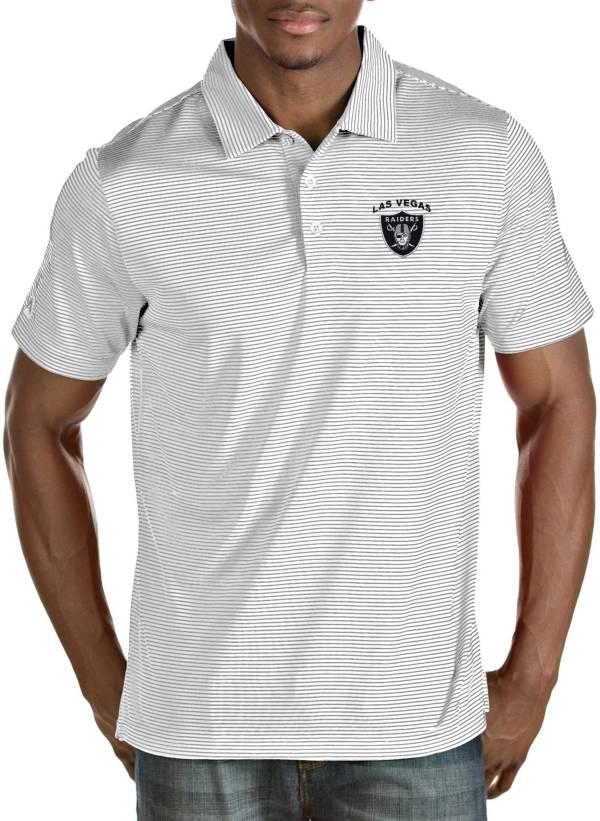 Antigua Men's Las Vegas Raiders Quest White Polo product image