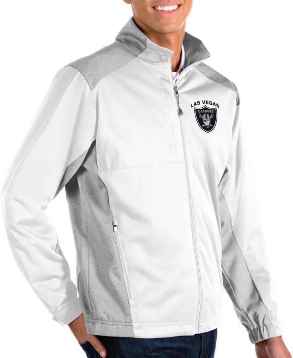 Antigua Men's Las Vegas Raiders Revolve White Full-Zip Jacket product image