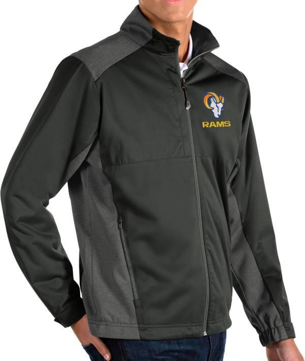 Antigua Men's Los Angeles Rams Grey Revolve Full-Zip Jacket product image