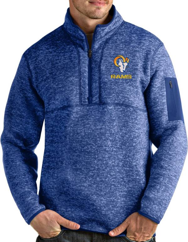 Antigua Men's Los Angeles Rams Royal Fortune Pullover Jacket product image