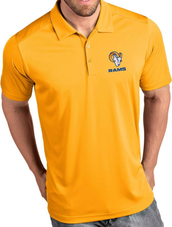 Antigua Men's Los Angeles Rams Gold Tribute Performance Polo product image