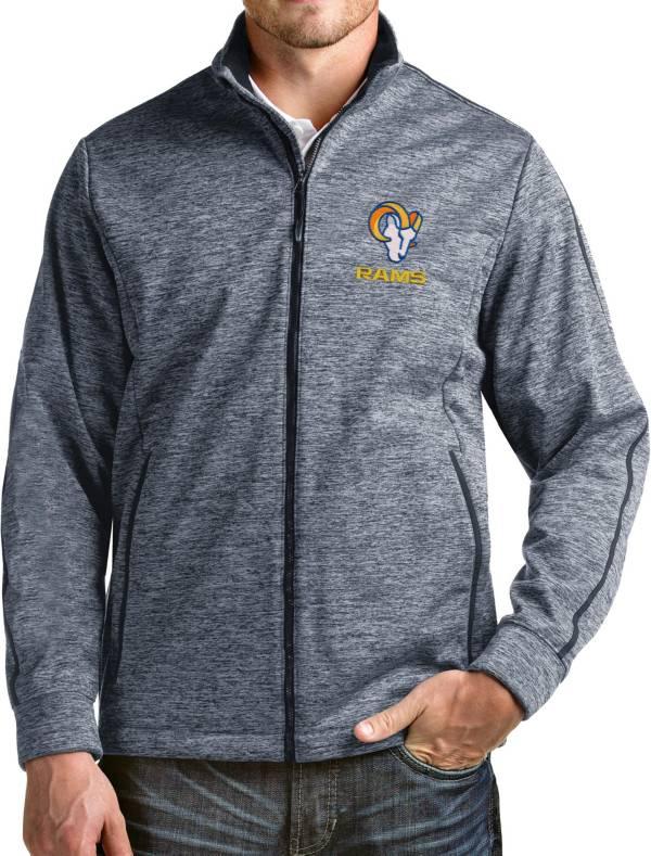 Antigua Men's Los Angeles Rams Navy Full-Zip Golf Jacket product image