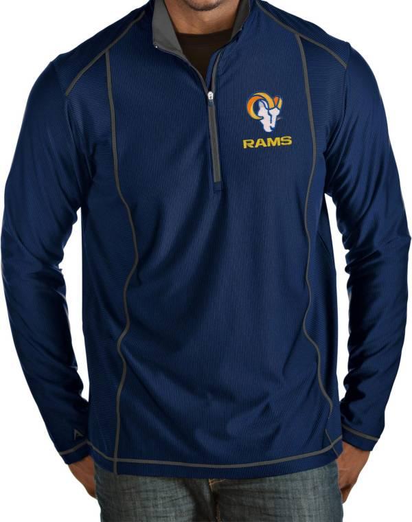 Antigua Men's Los Angeles Rams Royal Tempo Half-Zip Pullover Shirt product image