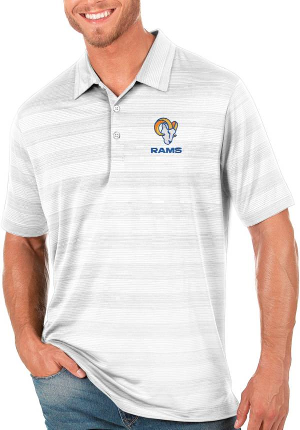Antigua Men's Los Angeles Rams Compass White Polo product image