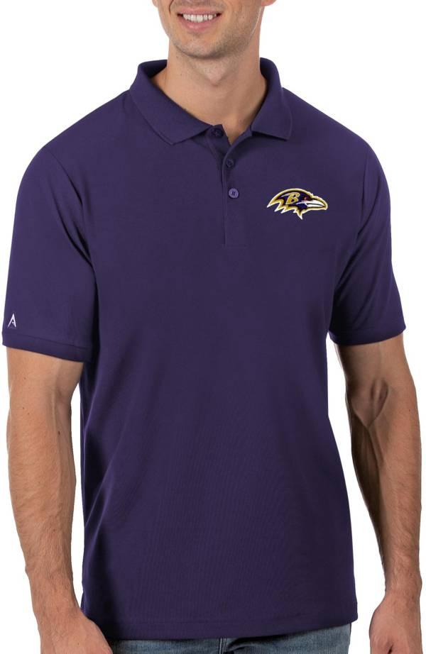 Antigua Men's Baltimore Ravens Purple Legacy Pique Polo product image