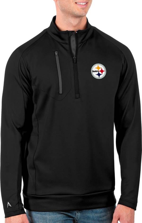 Antigua Men's Pittsburgh Steelers Black Generation Half-Zip Pullover product image