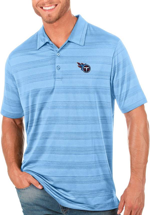 Antigua Men's Tennessee Titans Blue Compass Polo product image