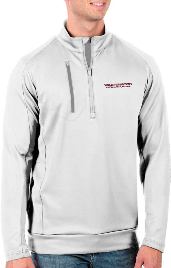 Antigua Men's Washington Football Team White Generation Half-Zip Pullover product image
