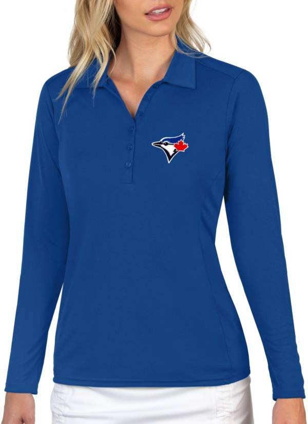 Antigua Women's Toronto Blue Jays Blue Tribute Long Sleeve Performance Polo product image