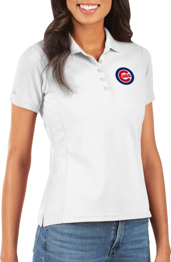 Antigua Women's Chicago Cubs White Legacy Pique Polo product image