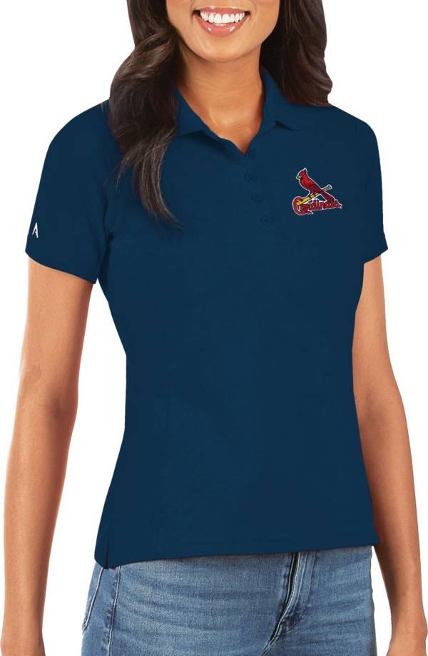 Antigua Women's St. Louis Cardinals Navy Legacy Pique Polo product image