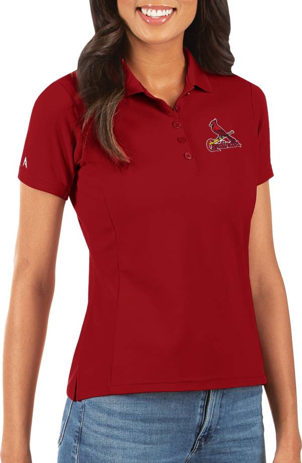 Antigua Women's St. Louis Cardinals Red Legacy Pique Polo product image