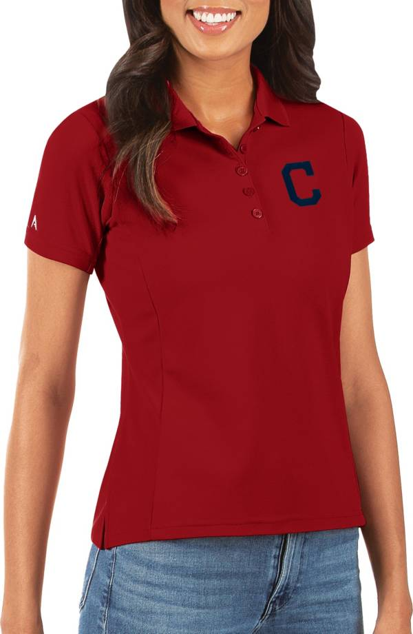 Antigua Women's Cleveland Indians Red Legacy Pique Polo product image