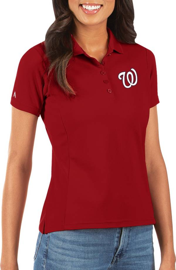 Antigua Women's Washington Nationals Red Legacy Pique Polo product image