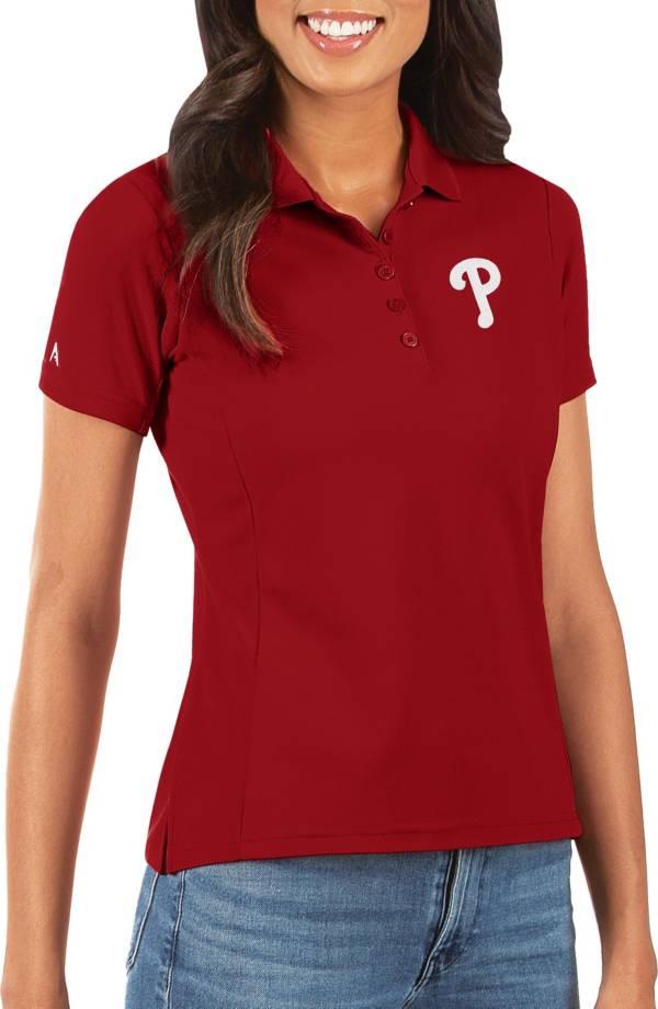 Antigua Women's Philadelphia Phillies Red Legacy Pique Polo product image