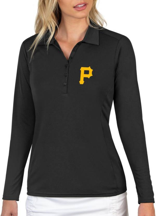 Antigua Women's Pittsburgh Pirates Tribute Long Sleeve Performance Black Polo product image