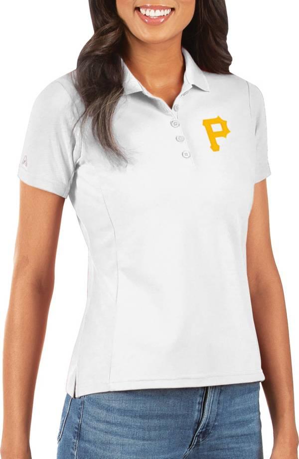 Antigua Women's Pittsburgh Pirates White Legacy Pique Polo product image