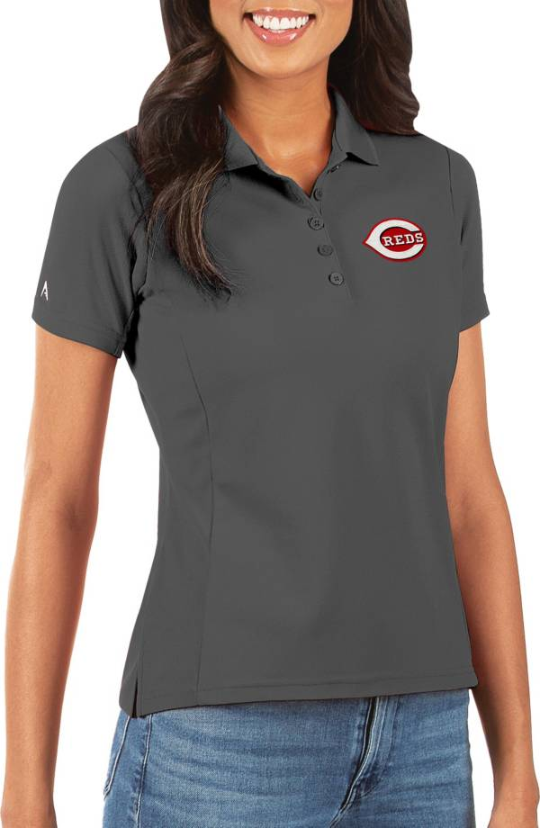 Antigua Women's Cincinnati Reds Grey Legacy Pique Polo product image