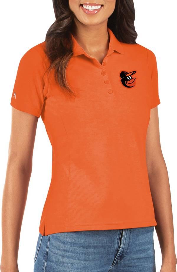 Antigua Women's Baltimore Orioles Orange Legacy Pique Polo product image