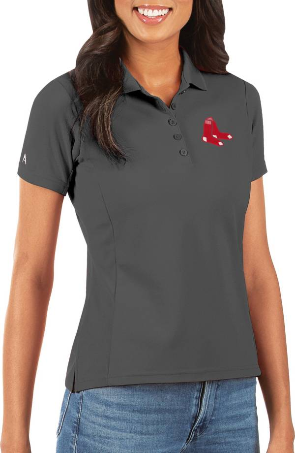 Antigua Women's Boston Red Sox Grey Legacy Pique Polo product image