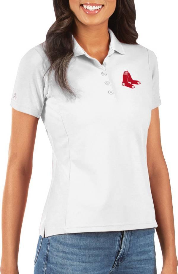 Antigua Women's Boston Red Sox White Legacy Pique Polo product image